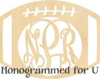 Wooden Football Monogram