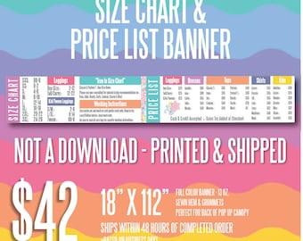 LuLaRoe Size Chart & Price List Banner