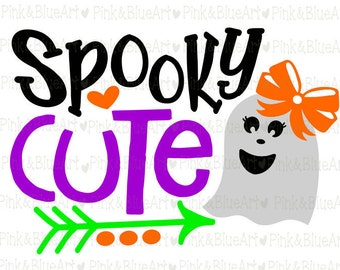 Spooky Cute Halloween SVG Clipart Cut Files Silhouette Cameo Svg for Cricut and Vinyl File cutting Digital cuts file DXF Png Pdf Eps