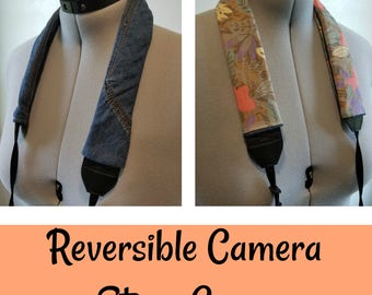Rose's Reversible Camera Strap Cover (Style: Mary Jean)