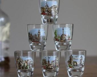 Souvenir Shot Glasses--London, Set of Six