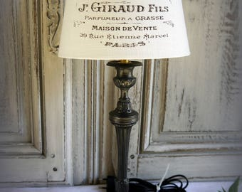 "Effect ""Gunmetal"" patinated bronze table lamp"