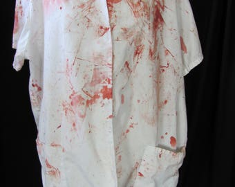 bloody shirt (L/XL) costume, orderly shirt, medical shirt, halloween costume, zombie shirt, medical costume, undead, living dead, large, #2