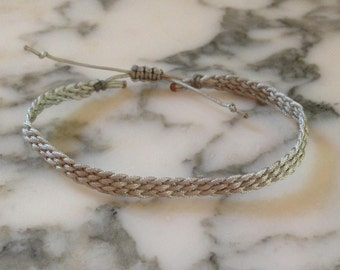 Gray Braided Friendship Bracelet