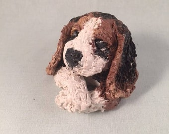 Beagle Puppy Polymer Clay Sculpture