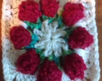 Rosebuds In Bloom Square