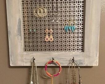 Jewelry Organizer   Bracelet Organizer   Earring Organizer   Necklace Organizer   Rustic Jewelry Display   Rustic Wall Display   Rustic
