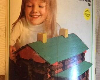 1977 Set of Playschool Lincoln Logs Frontiersman Set