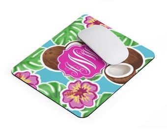 beach office decor. monogram mousepad beach office decor personalized preppy sorority gift