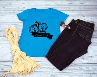 Charlotte Crown - The Queen City - Crown Shirt - Charlotte Crown Shirt - Charlotte Shirt - Charlotte - Skyline - Queen City