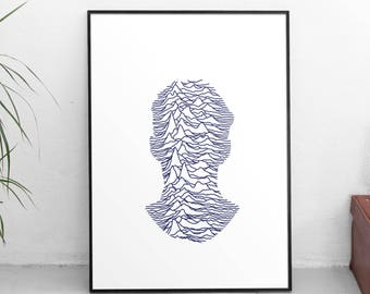 Printable Art - MUSIC PRINTS, Joy Division Print, Manchester Ian Curtis, Instant Download, Printable Art, Music Gift,  Music Poster
