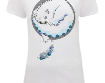 Feathery Feline Cats Kittens T-SHIRT ladies top