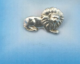 Fine Silver Lion Pendant made from Precious Metal Clay