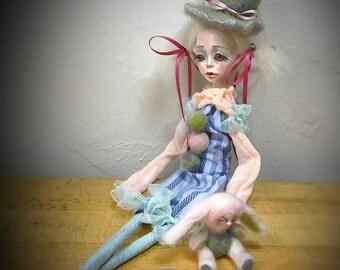 Ooak art doll: The Harlequin
