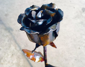 Metal Rose, Hand Crafted Steel.