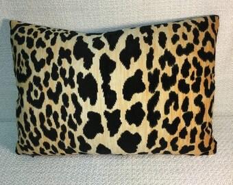 Velvet Leopard Print Kidney Pillow