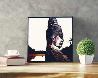 CAMBODIA WALL PRINT / / Bayon temple