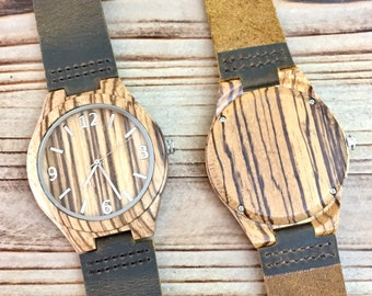 Mens Wooden Watch, Engraved Wood Watches, Gifts for Him, Husband Gift, Best Man Gift, Groomsmen Gift, Gifts for Dad, Boyfriend Gift