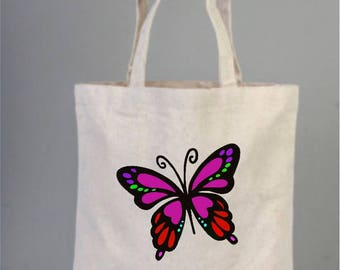 Butterfly personalised cotton bags, tote bags, cotton tote, everyday bags, butterfly decor, market bag, bridesmaid gift