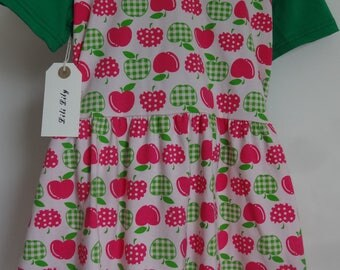 Girls Apple Jersey Dress Age 4-5 Years