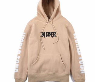 Justin Bieber Purpose tour hoodie | The World Tour Pullover | Sand Hoodie