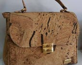Natural Cork Handbag - Fine Cork Bag - Cork Purse