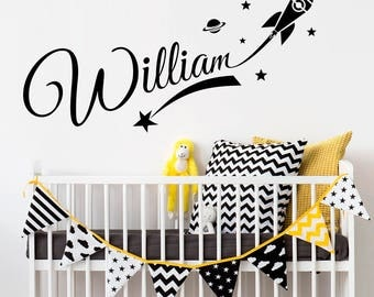 Nursery Personalized Girl Name Wall Decal Fairy Wall Sticker - Personalized custom vinyl wall decals for nurserypersonalized vinyl etsy