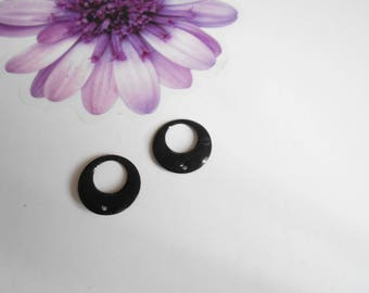 x 4 sequins black 18 mm