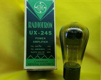 UX-245 Pair of Tubes Radiotron Audiotron Audio Amplifier Canadian GE NOS