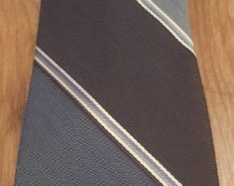 Vintage Don Loper tie, Don Loper Beverly Hills tie, vintage striped tie, vintage silk tie
