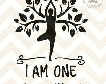 I Am One With Myself meditation SVG and DXF files
