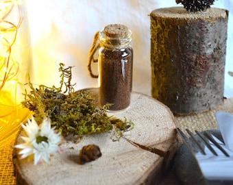 Vials coffee cinnamon-cardamom-anise welcome gifts, wedding, Christmas
