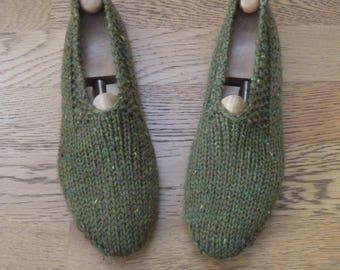Chaussons adulte homme ou femme 38/40 tricotés main