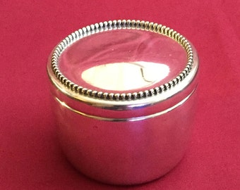 Vintage Sterling Vanity / Dresser Jar by Whiting Mfg. Co