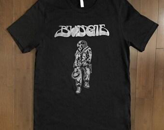 Budgie Squawk shirt black sabbath rush heavy metal breadfan NWOBHM