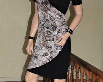 Dress hides heart stretch jersey fabric