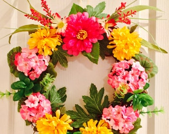 Decorative Spring/Summer Wreath