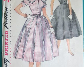 1954 Vintage Simplicity Dress Pattern
