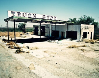 Truck Stop - Abandoned Gas Station Photograph
