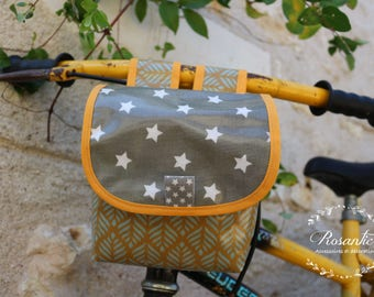 Bicycle and scooter bag khaki stars for boy gift