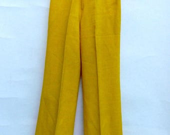 Authentic vintage 60 bootcut pants or mustard yellow Bonnie 70 brand size 36