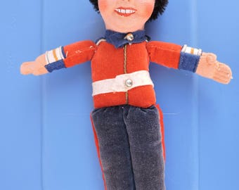 Vintage British Bobby Nassau Felt Painted Miniature Doll  by Norah Wellings  1950s
