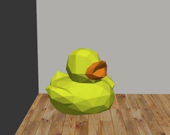 DIY Duck 3D Paper