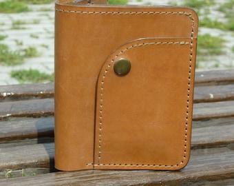 Leather Passport Wallet, Handmade, bi-fold wallet