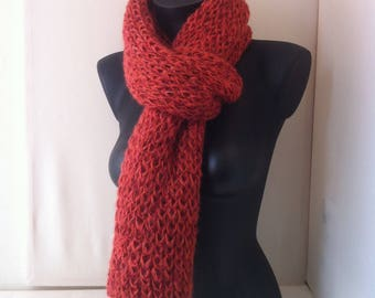 "Scarf silk and alpaca ""knitted"""