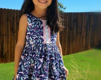 Unicorn Dress, Party Dress, Girls Clothing, Birthday Dress, Girl Unicorn Dress, Toddler Unicorn Dress