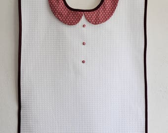 "Adult bib for women ""chic Burgundy"""