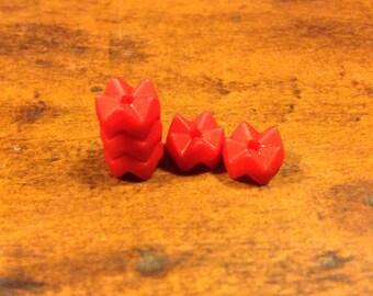 Plastic red bead