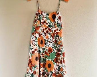 Vintage/Modern Floral Summer Dress