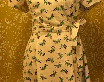 Little Green Birds dress